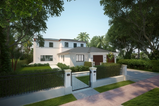 Mile Marker Investments restoring 1940s golf course home at 5334 La Gorce Drive in Miami Beach.