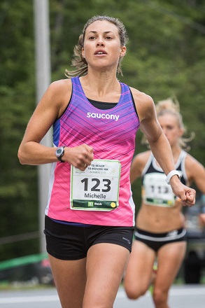 Michelle Lilienthal, Maine Resident champion, 2016 TD Beach to Beacon 10K in Cape Elizabeth.