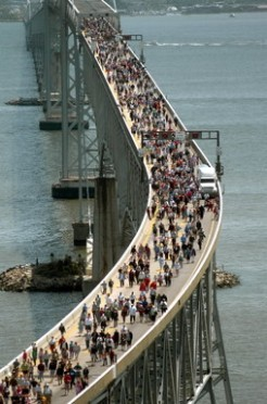 The Chesapeake Bay Bridge Walk attracted thousands of participants each year from 1975 until 2006.