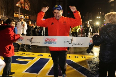 Boston Marathon Director Dave McGillivray completed his 46th Boston Marathon in the evening after the race.
