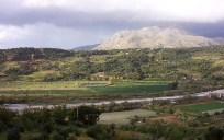 The countryside of Calabria in southern Italy