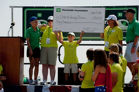 A different Maine charity receives $30,000 from the TD Charitable Foundation each year as beneficiary of the TD Beach to Beacon.