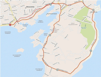 The Run Gloucester! 7-Mile Road Race includes nearly five miles of ocean views for runners in Cape Ann, Massachusetts.