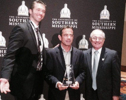 Dave McGillivray receives Professional of the Year Award from National Center for Spectator Sports Safety and Security.