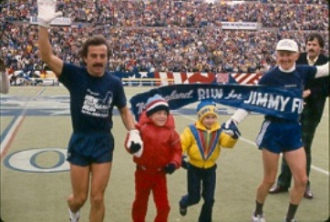Dave McGillivray reunites with former Jimmy Fund child 'hero' at NARA conference in Boston Sept. 21.