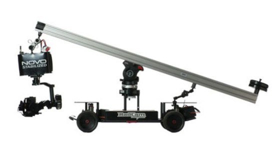 Four-wheeled Radcam stabilizer utilizing Novo camera for precision shooting at fast speeds