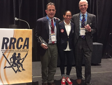 Dave McGillivray, race director of Boston Marathon, inducted into Road Runners Club of America Long Distance Running Hall of Fame for philanthropy, management and feats of endurance.