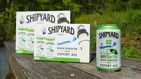 New Shipyard Export Ale Can Honors 20th Running of Maine's TD Beach to Beacon 10K.