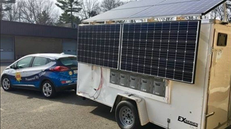 Maine-based ReVision Energy and Pika Energy built a solar-power trailer with battery to be used in disaster relief in Puerto Rico.