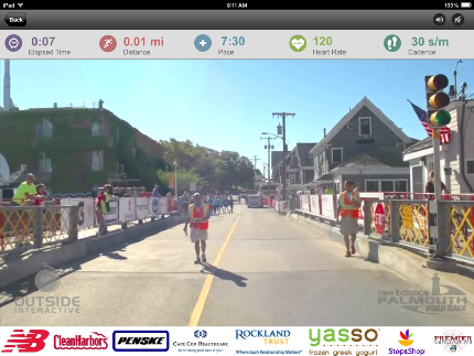 Falmouth Road Race partners with Outside Interactive to offer remote participation in 2015 race via Virtual Runner on a treadmill.