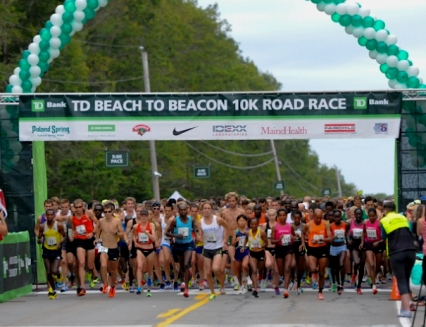 New American prize money category sponsored by Dunkin' Donuts at 2015 TD Beach to Beacon 10K Road Race.