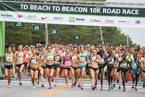 Ben True first American to win and Mary Keitany shatters course record at TD Beach to Beacon 10K in Cape Elizabeth.